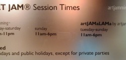 Extended opening hours for artjamming ™