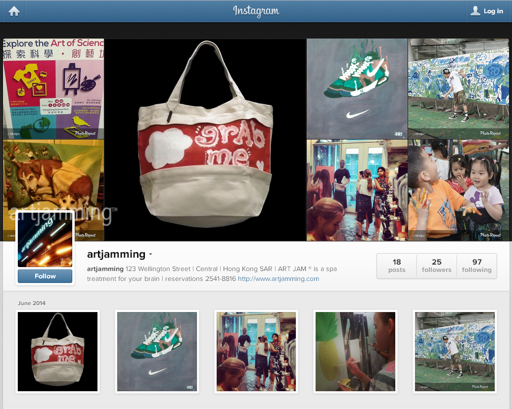 artjamming ™ is now on Instagram